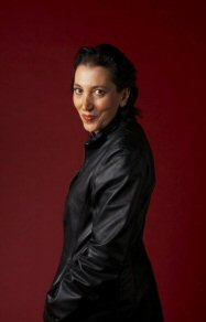Reva Mann in leather coat